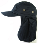 Ear Flap Baseball Cap Style Sun Protection Hats Wholesale - Navy Blue