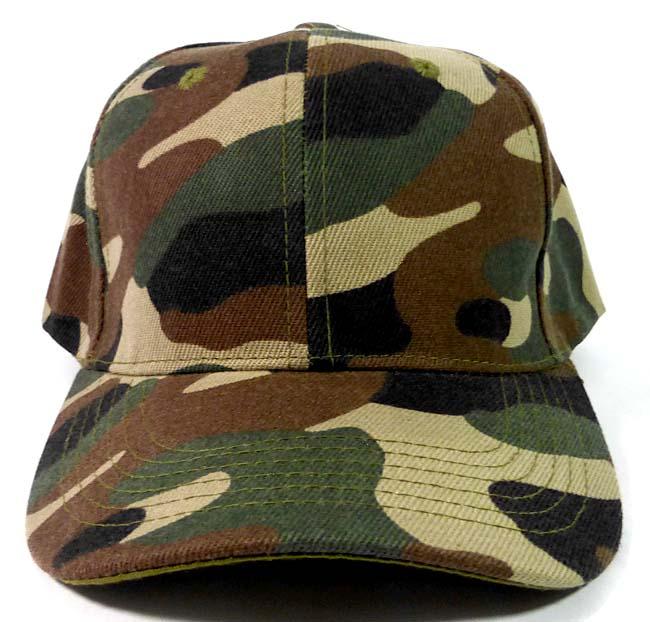 Wholesale Blank Camouflage Baseball Caps In Bulk Sale