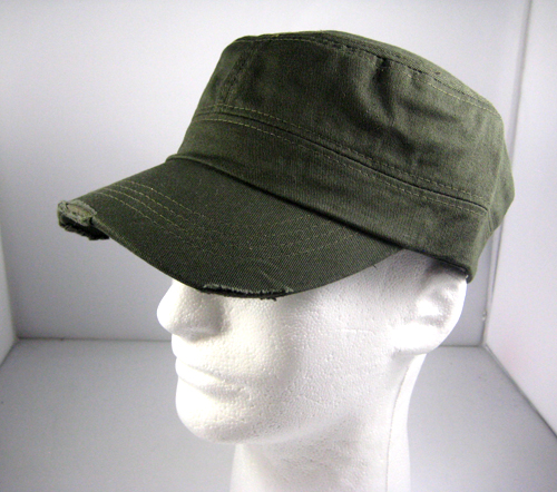 Blank Plain Cadet Style Castro Hat Wholesale Olive Green