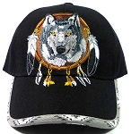 Native Pride Dream Catcher Baseball Caps Hats Wholesale - Wolf