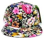 Wholesale Blank Floral Snapback Hats Caps - Hawaiian Flowers