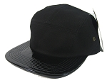 Blank 5 Panel Camp Hats/Caps Wholesale - Alligator/Croc Black