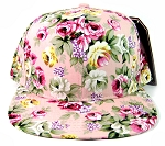 Wholesale Blank Floral Snapback Hats - All Floral | Pink & Pink