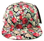 Wholesale Blank Floral Snapbacks Caps - All Floral | Red Flowers
