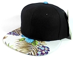 Floral Snapback Hats Caps Wholesale - Blue Hawaiian Hibiscus Flower