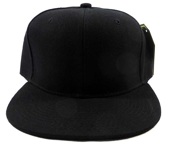 blank black snapback hats - photo #1