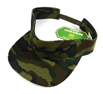 Flatbill Blank Snapback Visors Wholesale - Green Camouflage Caps