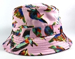 Wholesale Fashion Bucket Hats - Birds - Pink
