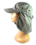 Wholesale Summer Ear Flap Sun Hats Baseball Caps Style - Gray