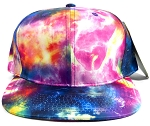 Wholesale Blank Snapback Hats - Galaxy Print | Multicolor 1