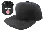 KIDS Blank Junior Snapback Hats Wholesale - Solid Black