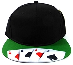 6-Panel Blank Strapback Hats Caps Wholesale - Poker Cards