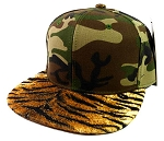 Blank Tiger Snapback Hats Caps Wholesale - Camouflage