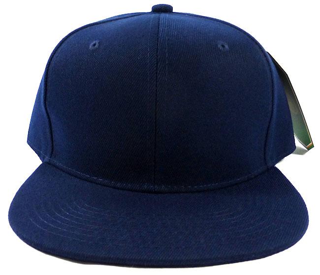 Blank Snapback Caps Hats Wholesale Navy Navy
