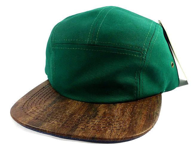 Wholesale Blank Wooden Cork 5-Panel Hats Caps - Green  b20572952fc