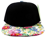 Wholesale Blank Floral Snapback Hats - Painted Flowers-kh