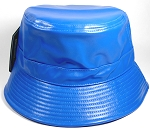 Wholesale Blank Faux - Leather Bucket Royal Blue
