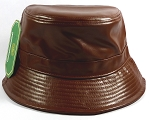 Wholesale Blank Faux - Leather Bucket Brown