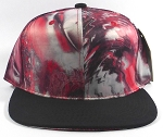 Wholesale Blank Marble Art Snapbacks Caps | Pointy Circles and Zigzag Pattern - Black Brim