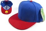 Wholesale Blank Snapbacks Hat Caps - Royal Blue | Red