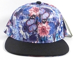 Wholesale Blank Floral Snapbacks Cap | Daisy Love | Blue and Black