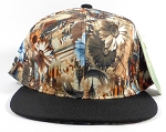 Wholesale Blank Flowers Snapbacks Hats | Daisy Love | Brown and Black
