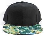 Wholesale Blank Flowers Snapbacks Hat | Daisy Love | Black and Green