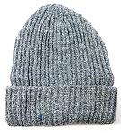 Wholesale Winter Knit Long Cuff Beanie Hats - Solid Light Grey