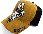 Native Pride Baseball Caps Wholesale - Suede - Eagle and Feather