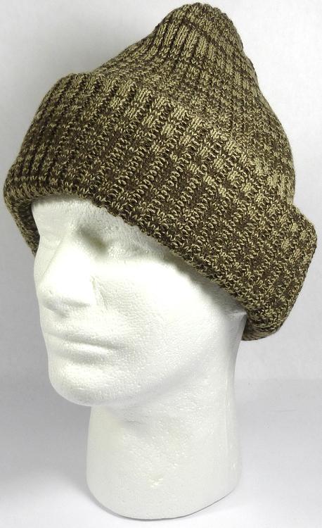 Knitting Pattern Long Beanie : Wholesale Winter Knit Long Cuff Beanie Hats - Mixed Khaki
