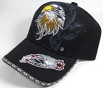 Native Pride Baseball Caps Wholesale - Proud Eagle - Black