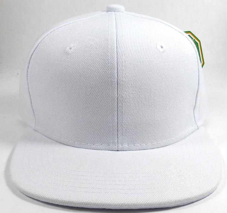 Kids Junior Wholesale Blank Snapback Hats Solid White