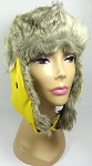 Trooper Bomber Faux Fur Winter Hats Wholesale - Yellow