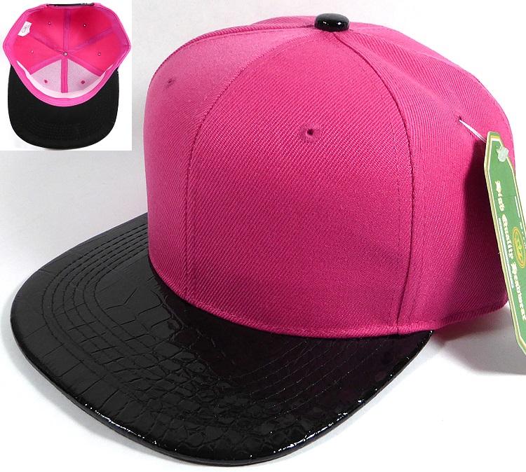 hot pink polo baseball cap wholesale blank alligator skin caps black brim leather suede