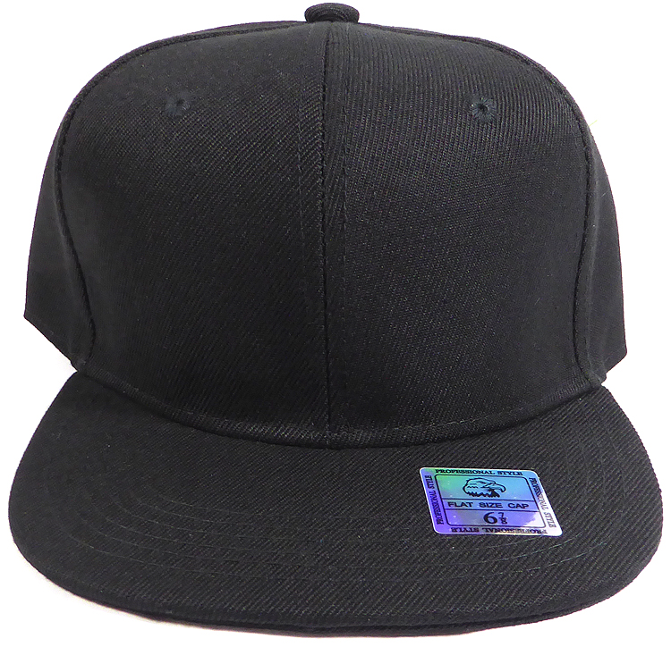 Plain black caps