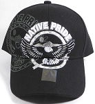 Wholesale Native Pride Baseball Cap - Flying Eagle - Black