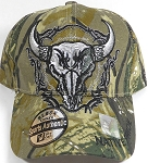 Wholesale Native Pride Baseball Cap - Buffalo Skull - Autumn Camo