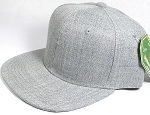 Wholesale Blank Snapback Cap - Denim Light Grey Indigo - Solid