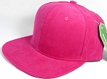 Wholesale Corduroy Blank Snapback Caps - Solid - Hot Pink