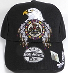 Wholesale Native Pride Baseball Cap - Native Eagle - Black