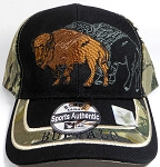 Native Pride Buffalo Hats Wholesale - Black/Camo Mix