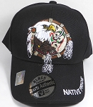 Wholesale Native Pride Baseball Cap - Eagle Dream Catcher- Black
