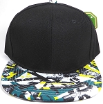 Wholesale Blank Modern Art SnapBack Hats - Black Crown