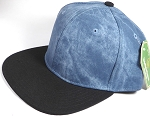 Wholesale Suede Blank Snapback Caps - Teal Blue - Black Brim