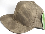 Wholesale Suede Blank Snapback Caps - Beaver Brown - Solid