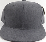 Wholesale Blank Snapback Cap - Denim Charcoal Grey - Solid