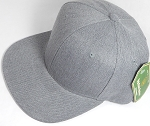 Wholesale Blank Snapback Cap - Denim Heather Grey - Solid