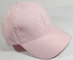 Suede Dad Hats Wholesale Blank Baseball Caps - Slider Buckle - Light Pink