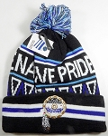 Native Pride Wholesale Pom Pom Long Cuff Beanie - Dream Catcher - Black