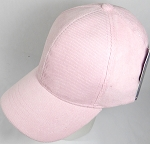 Corduroy 100% Cotton Plain Baseball Cap Wholesale - Slider Buckle - Light Pink